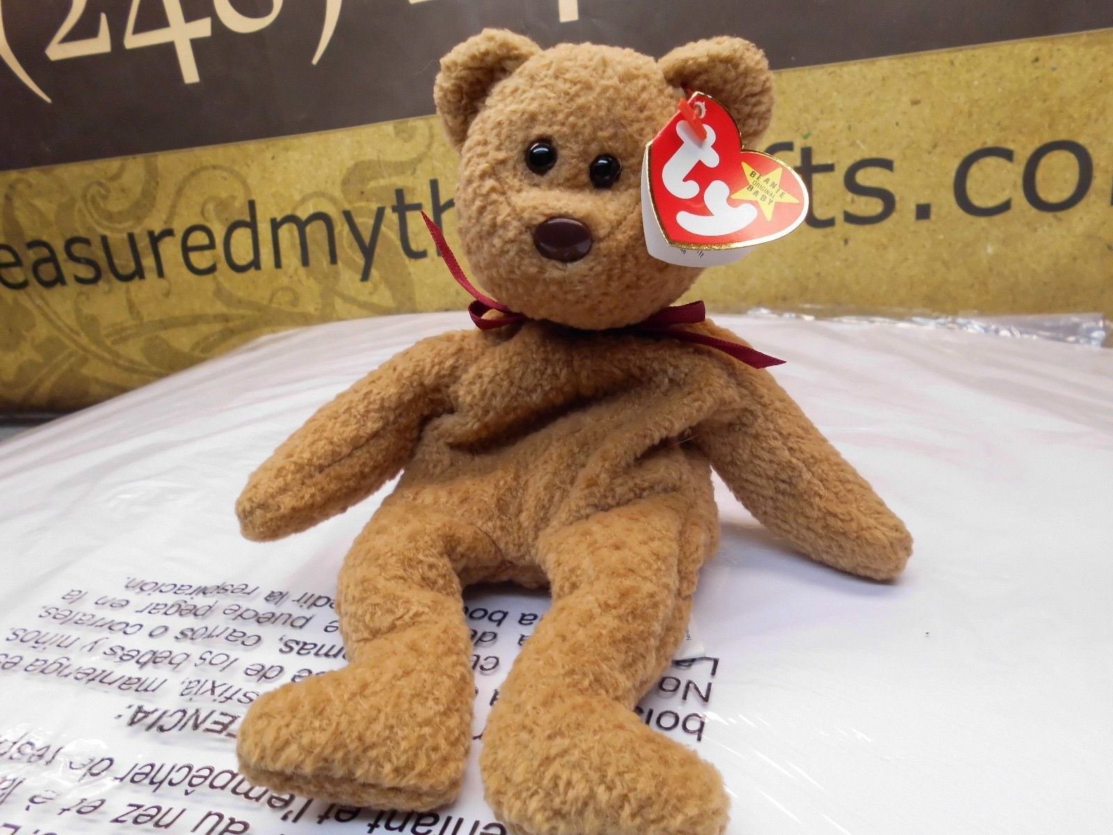 Rare Ty Beanie Babies Curly, Double Tush Tag and other errors
