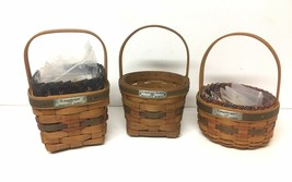 Longaberger Lot of 3 Patriotic Baskets Inaugural Market 1989, 1993, 1997 - $39.59