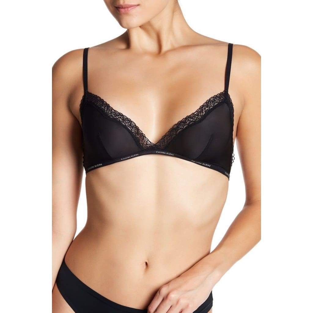 cc07ebab27f50 Calvin Klein Sheer Marquisette with Lace Unlined Triangle Bra QF1842 -   26.00