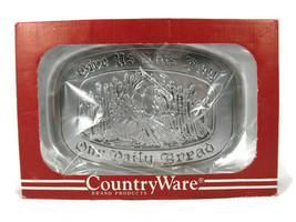 Wilton Armetale Pewter Polished Tray Country Ware Give Us Bread  - $24.54