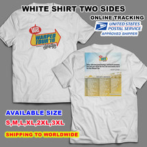 VANS WARPED 2018 TOUR DATE V1 WHITE T-SHIRT S-3XL SIZES AVAILABLE NEW - $13.99+