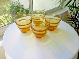 Set of 5 Continental Can Co. Amber Old Fashioned Rocks Glasses - $20.79