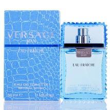 Versace Man Eau Fraiche by Versace Edt Spray (Blue) For Men - $15.99+