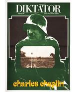 GREAT DICTATOR Charles Chaplin Movie Poster 1977 Milan Grygar Graphic De... - $296.00