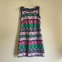 Talbots Petites Blue Green Pink Boho Sleeveless Dress Womens Size 2P - $29.95