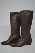 NEW! Frye Ruby Tall Boots in Charcoal Color. Brown Leather Boots Size 7.5 M - $237.00