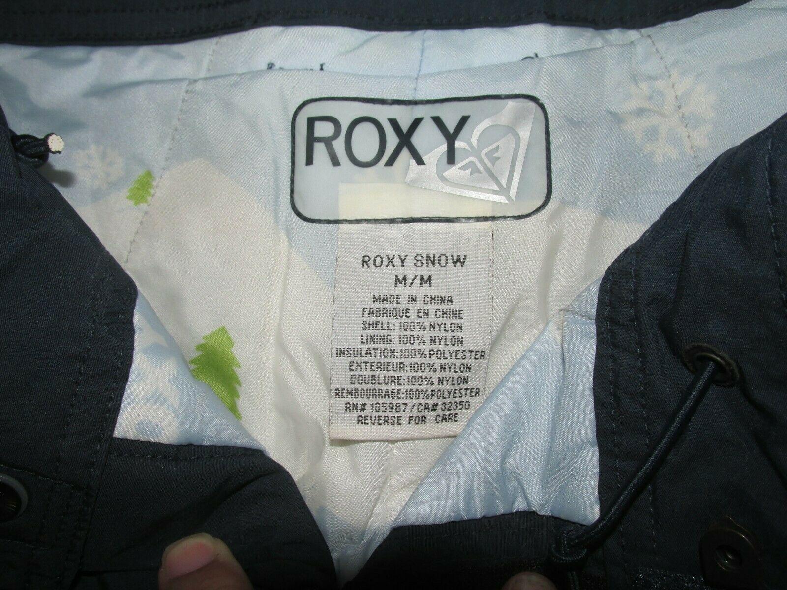 ROXY Women's Snowboard Ski Snow Pant Sz Medium navy Blue