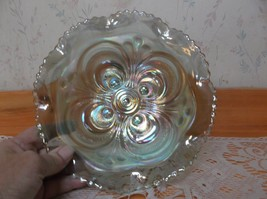 Beautiful Vintage Imperial Ice Green Scroll pattern Bowl - $34.64