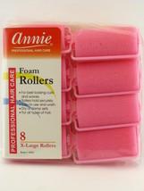 """Annie X-LARGE 1-1/4"""" Foam Hair Rollers - 8 Pcs. (1054) - $6.99"""