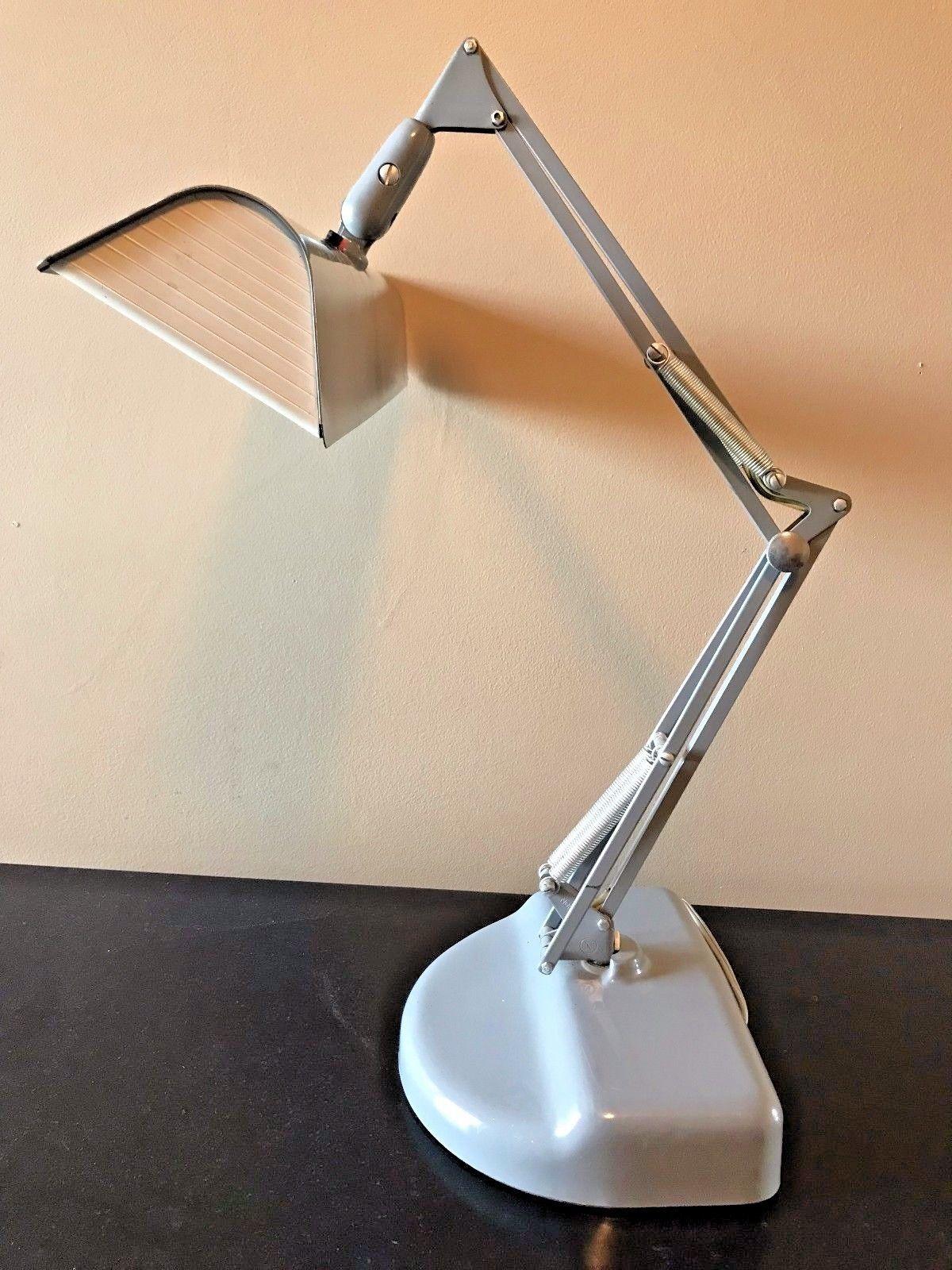 Vintage Luxo L 2 Fluorescent Task Work Articulating Desk Lamp Lb