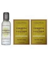 CRABTREE & EVELYN 3pc Set VERBENA+LAVENDER Facial Soap+Conditioner TRAVE... - $4.99