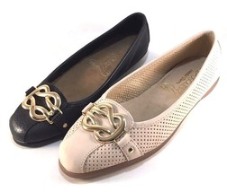 Aerosoles High Bet Leather Round Toe  Flats Choose Sz/Color - $69.00