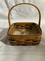 Longaberger 2003 Holiday Helper Basket With Plastic Protector - $21.29