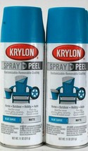 2 Krylon 11 Oz Spray N Peel 9938 Blue Surge Matte Customizable Removable... - $15.99