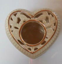 """PartyLite """"Thanks From The Heart"""" 2002 Tealight Candle Holder/Trinket Bo... - $18.99"""