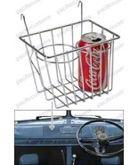 Chrome Retro Looking Wire Storage Basket Cup Holder Fits All Vw Bus Up T... - $49.95