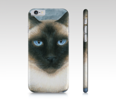 Cell Phone Case for Iphone Galaxy Cat 547 Siamese blue from art painting... - $28.99