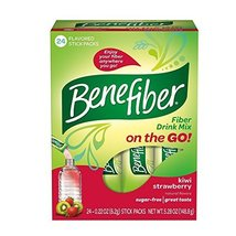 Benefiber Kiwi-Strawberry Sugar-Free Fiber Supplement Stick Packs for Di... - $34.24