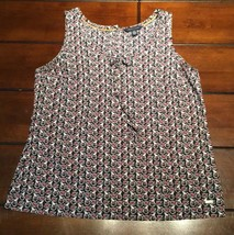 Tommy Hilfiger Size Small Tank Top Teacup Pitcher Pattern - $12.99