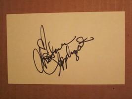 Christina Applegate signed index card COA Autograph - $29.69