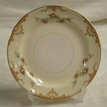 Aristocrat Homer Laughlin Bread Butter Plate Eggshell Nautilus Tan Border Floral - $14.84