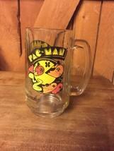 1982 Pac Man Mug Beer Stein Coffee Rootbeer Vintage Video Game Arcade Glass - $24.99