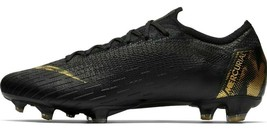 NIKE MERCURIAL VAPOR 12 ELITE FG BLACK/GOLD SIZE 11 BRAND NEW $250 (AH7380-077) image 2