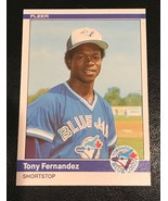 1984 FLEER  Baseball Card #152 TONY FERNANDEZ ROOKIE - $1.93