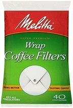 Melitta Coffee Filters for Percolators White Wrap Around 40-Count Filters - $7.91