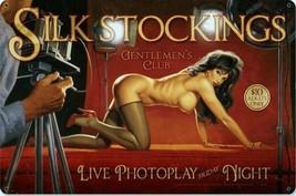 Silk Stockings Pin-Up Metal Sign ( Greg Hildebrandt ) - $29.95