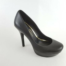 Jessica Simpson Platform Pump Black Leather Womens 7B - $28.04