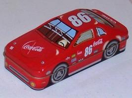 Coca Cola #86 Red Race Car Shaped Design Tin Box Treasure Keeper - $4.79