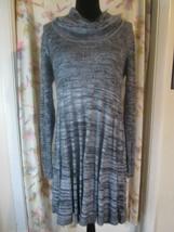 Calvin Klein Sweater Dress Sz L Black and Grey - $9.95
