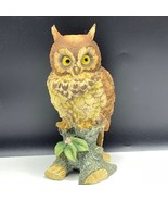 Ethan Allen figurine statue sculpture great horned brown barn 3203 Owl J... - $94.05