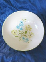Vintage Franciscan Earthenware Serving Bowl Daisy Yellow Blue Green 1960... - $13.37