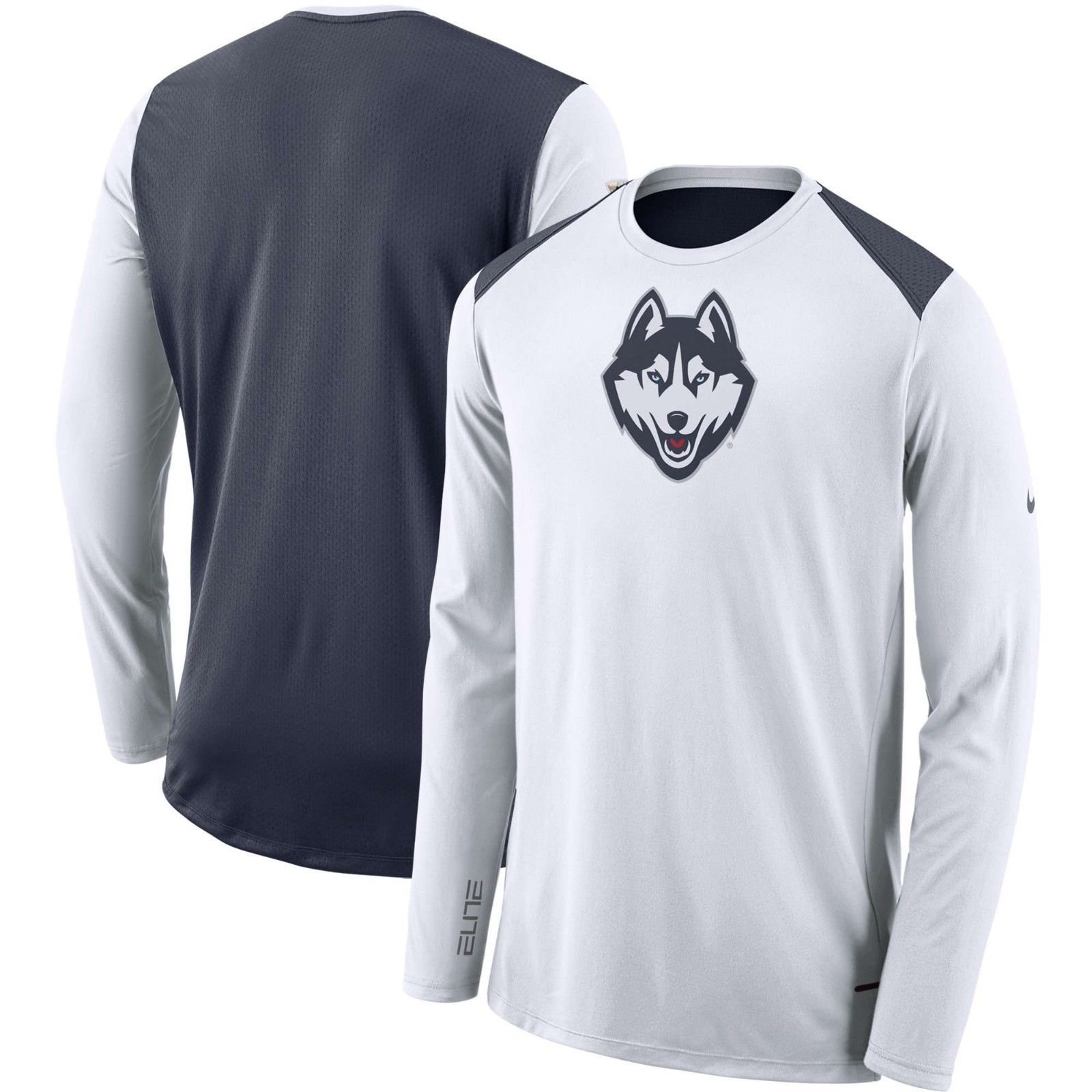 abd8dfade4 UConn Huskies Nike Men s DRI-FIT Elite Shooter L S T-Shirt - Size Large -  NWT