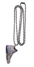 Good Wood NYC Laney 5 Sneaker Necklace Wht/Blu/Yel V Shoe Emsley Laney image 2