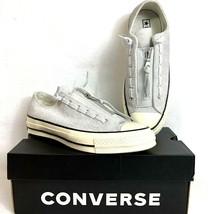 437983b1d00e Converse Chuck Taylor All Star 70 Zip Suede Pure Platinum Low Top Sz 5M   7W