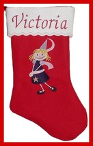 "17"" Personalized Embroidered Princess Felt Christmas Stocking - $12.95"
