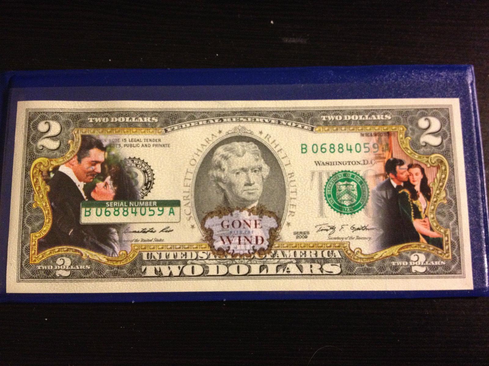 Colorized U.S LICENSED * $2 Bill Legal Tender 75th Birthday ELVIS PRESLEY