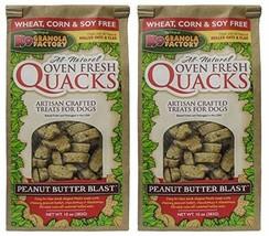 K9 Granola Factory 2 Pack of Peanut Butter Blast Quacks Dog Treats, 10 Ounces Ea image 1