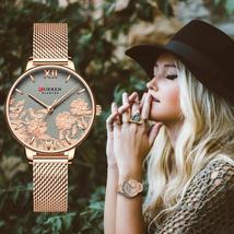 CURREN. Top brand, luxury, stainless steel strap, wristwatch for women.M CR102. - $24.99