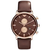 Emporio Armani AR0387 Brown Leather Strap Brown Dial Chronograph Watch - $149.99