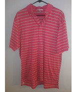 Peter Millar Polo Shirt Adult Large Pink Green Golf Golfer Rugby Mens SZ... - $19.79