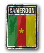 ALBATROS Pack of 12 Cameroon Country Flag Reflective Decal Bumper Sticke... - $31.85