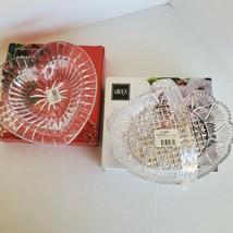 2 lot Vintage Mikasa Desire & Georgetown NIB Crystal Dishes - $13.86