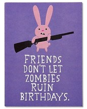 American Greetings Funny Zombie Birthday Card With Embossing - $15.53