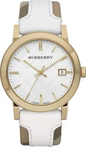 【BURBERRY】The City BU9015 Unisex Watch - canvas and leather strap 38mm  - $298.00