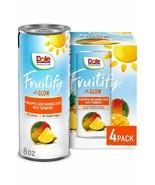 Dole Fruitify Glow Pineapple & Mango Juice with Turmeric 8 oz (Pack Of 4) - $16.78