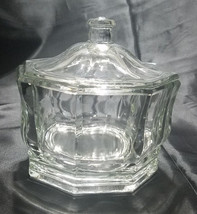 VINTAGE CLEAR COVERED CANDY DISH BY INDIANA GLASS (CONCORD PATTERN) - $16.20
